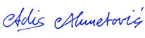 Unterschrift Adis Ahmetovic